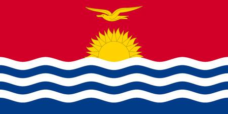 carribean: Kiribati national official flag. Patriotic symbol, banner, element, background. Accurate dimensions. Flag of Kiribati in correct size and colors, vector illustration Illustration