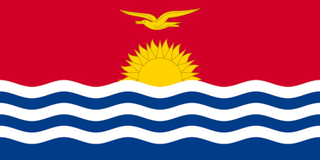 Kiribati national official flag. Patriotic symbol, banner, element, background. Accurate dimensions. Flag of Kiribati in correct size and colors, vector illustration Illustration
