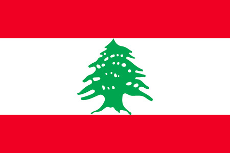 lebanese: Lebanese national official flag. Patriotic symbol, banner, element, background. Accurate dimensions. Flag of Lebanon in correct size and colors, vector illustration