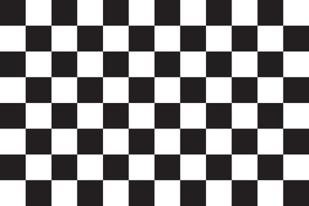checked flag: Checkered racing flag. Symbolic design of end of car race. Black and white background. Checkered flag in correct size and colors, vector illustration