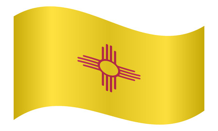 New Mexican Official Flag Symbol American Patriotic Element