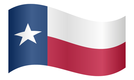 texan: Texan official flag, symbol. American patriotic element. USA banner. United States of America background. Flag of the US state of Texas waving on white background, vector