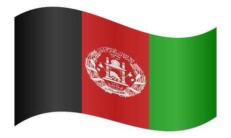 afghan: Afghan national official flag. Patriotic symbol, banner, element, background. Correct colors. Flag of Afghanistan waving on white background, vector illustration Illustration