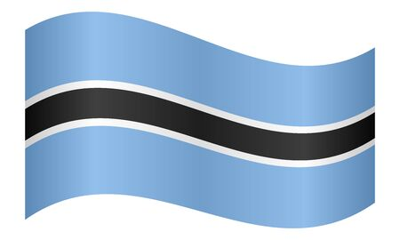 botswanan: Botswanan national official flag. African patriotic symbol, banner, element, background. Correct colors. Flag of Botswana waving on white background, vector illustration Illustration