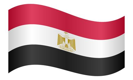 Vector Illustratie Made In Egypte Drie Gesoleerde Afrikaanse
