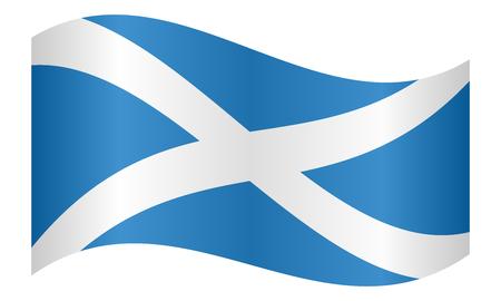 Scottish national official flag. Patriotic symbol, banner, element, background. Correct colors. Flag of Scotland waving on white background, vector illustration