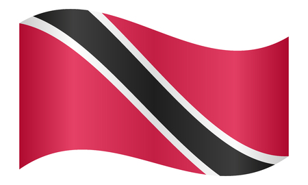 trinidadian: Trinidadian and Tobagonian national official flag. Patriotic symbol, banner, element, background. Correct colors. Flag of Trinidad and Tobago waving on white background, vector illustration