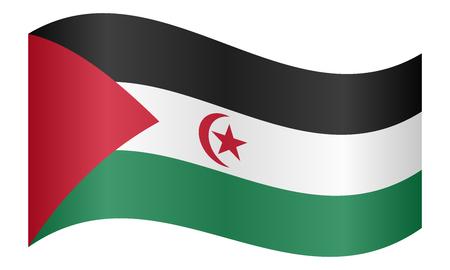 sahrawi arab democratic republic: Sahrawi national official flag. Western Sahara patriotic symbol. SADR banner, element, background. Correct colors. Flag of Sahrawi Arab Democratic Republic waving white background, vector illustration
