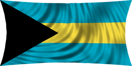 bahamian: Bahamian national official flag. Patriotic symbol, banner, element, background. Correct colors. Flag of Bahamas waving, isolated on white, 3d illustration Stock Photo