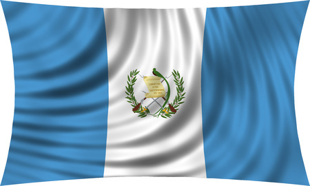 guatemalan: Guatemalan national official flag. Patriotic symbol, banner, element, background. Correct colors. Flag of Guatemala waving, isolated on white, 3d illustration
