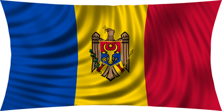 moldovan: Moldovan national official flag. Patriotic symbol, banner, element, background. Correct colors. Flag of Moldova waving, isolated on white, 3d illustration