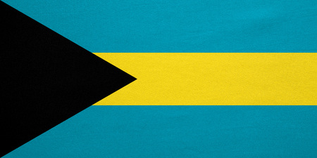 bahamian: Bahamian national official flag. Patriotic symbol, banner, element, background. Correct colors. Flag of Bahamas with real detailed fabric texture, accurate size, illustration