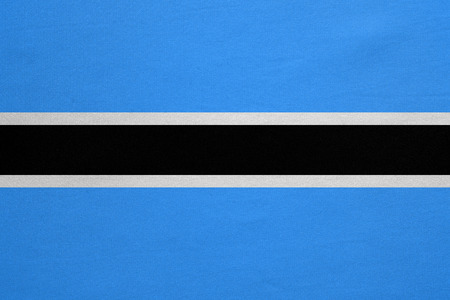 botswanan: Botswanan national official flag. African patriotic symbol, banner, element, background. Correct colors. Flag of Botswana with real detailed fabric texture, accurate size, illustration
