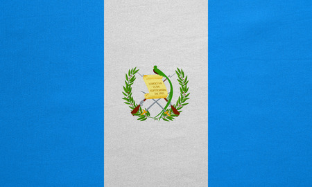 guatemalan: Guatemalan national official flag. Patriotic symbol, banner, element, background. Correct colors. Flag of Guatemala with real detailed fabric texture, accurate size, illustration