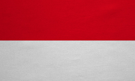 national flag indonesian flag: Indonesian national official flag. Patriotic symbol, banner, element, background. Correct colors. Flag of Indonesia, Monaco, Hesse with real detailed fabric texture, accurate size, illustration