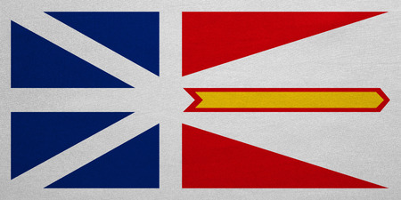 provincial: Canadian provincial NL patriotic element and official symbol. Canada banner and background. Flag of the Canadian province of Newfoundland and Labrador fabric texture, accurate size color, illustration