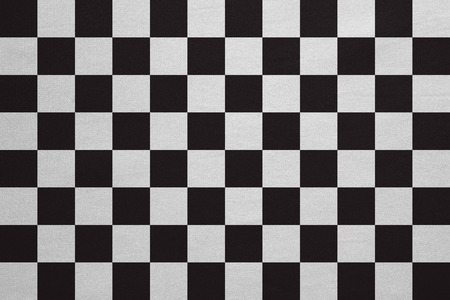 checked flag: Checkered racing flag. Symbolic design of end of car race. Black and white background. Checkered flag with real detailed fabric texture, accurate size, illustration