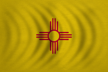 Flag Of The Us State Of New Mexico American Patriotic Element