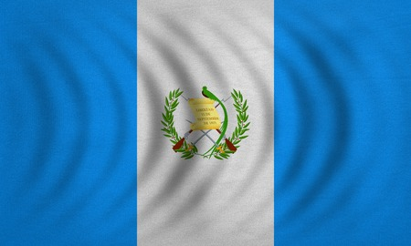 guatemalan: Guatemalan national official flag. Patriotic symbol, banner, element, background. Correct colors. Flag of Guatemala wavy with real detailed fabric texture, accurate size, illustration