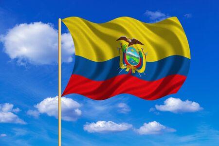 Ecuadorian National Official Flag Patriotic Symbol Banner Stock