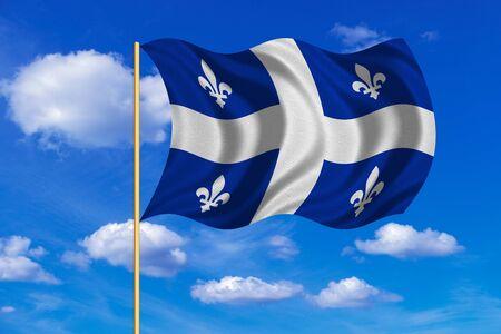 Canadian Provincial Flag QC Patriotic Element And Official Symbol