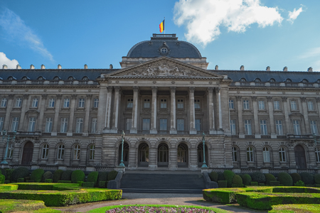 Royal Palace of Brussels, Belgium, Europe. Palais Royal de Bruxelles (1783 - 1934). Old building in historical center of Brussels. Beautiful european architecture. Built in the neoclassical style