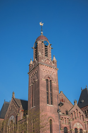 The Arminius church, Rotterdam, Netherlands, Europe. Built between 1895 and 1897. Monumental building, european architecture. Also known as Debatcentrum. Location for debate, lectures, dance, concerts