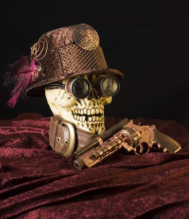 steampunk goggles: steampunk naturaleza muerta