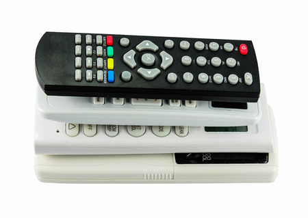 remotes: remote control for air conditioner and tv  isolated on white background