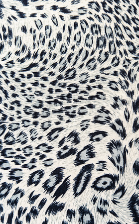 The fabric on striped leopard for background Banco de Imagens