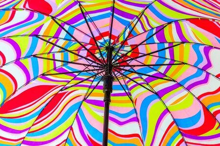 colorful beach umbrella for background photo