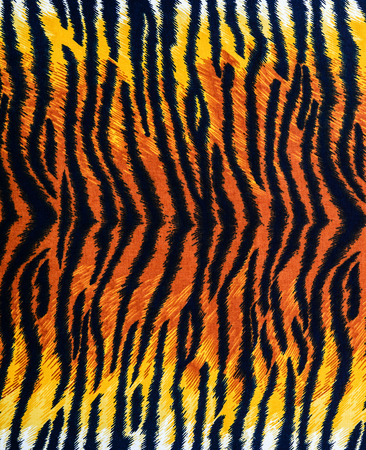 texture of tiger fabric stripes for background Banco de Imagens