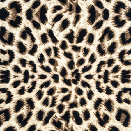 texture of leopard fabric for background photo