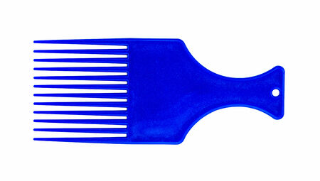 blue hair comb  isolated on white background Фото со стока - 30943100
