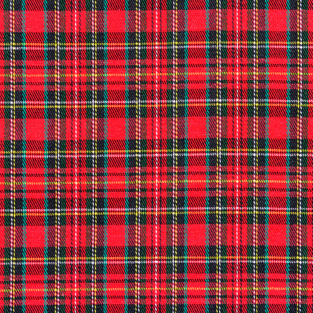 fabric texture: texture of red plaid fabric for background