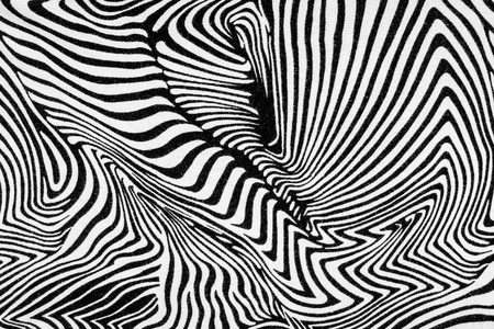texture of fabric stripes zebra for background photo
