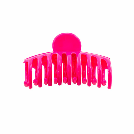pink hair clip isolated on white background Stock Photo