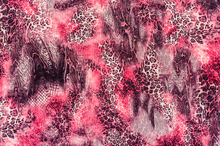 backdrop: texture of print fabric stripes leopard for background