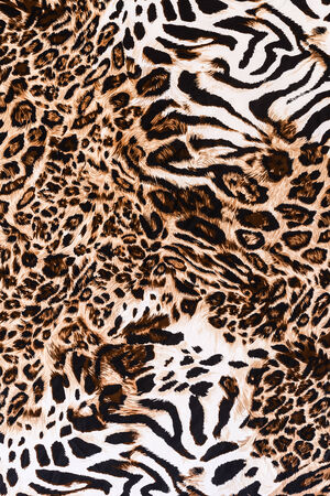 leopard: texture of print fabric stripes leopard for background
