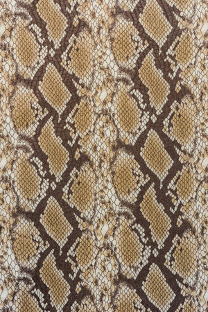 texture of print fabric stripes snake leather for background Banco de Imagens