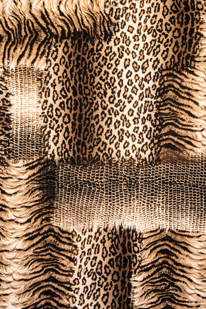 white fabric texture: texture of print fabric striped leopard for background