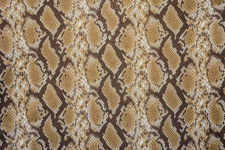 snake skin: texture of print fabric stripes snake leather for background Stock Photo