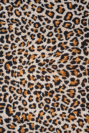 texture of close up print fabric stripes leopard for background