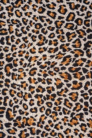 textuur van de close-up drukken stof strepen luipaard voor achtergrond