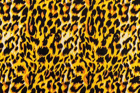texture of print fabric striped leopard for background photo