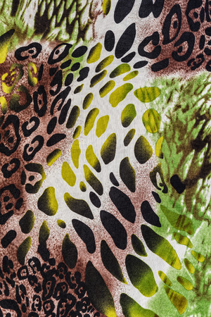 texture of print fabric striped leopard for background