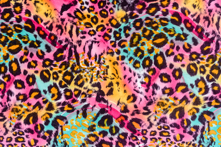 leopard: texture of print fabric striped leopard for background