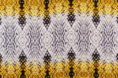 textuur van gedrukt gestreepte slangleer voor achtergrond