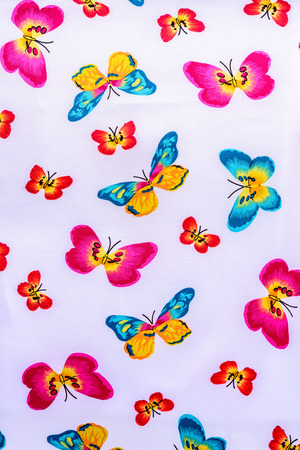 texture of print fabric striped batterfly for background photo