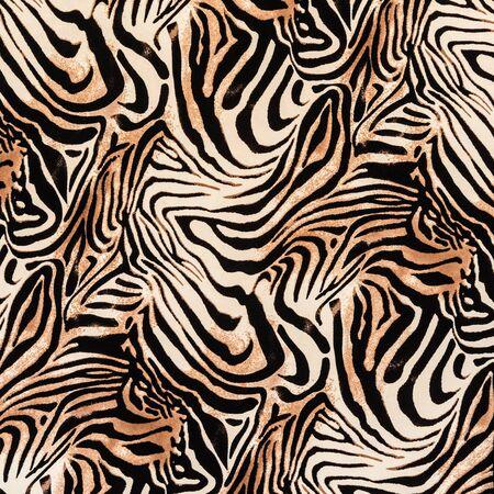 zebra: texture of print fabric striped zebra for background